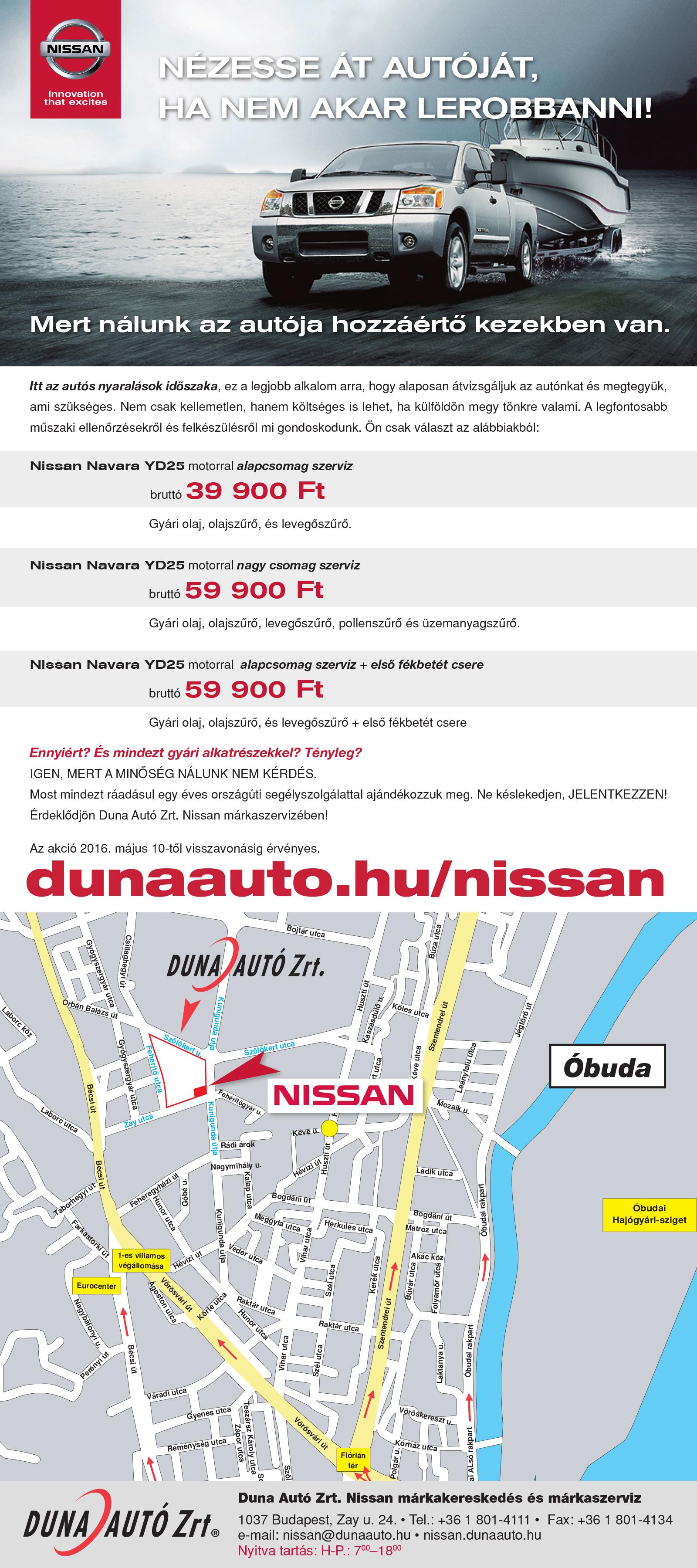 Nissan navara nézesse át autóját