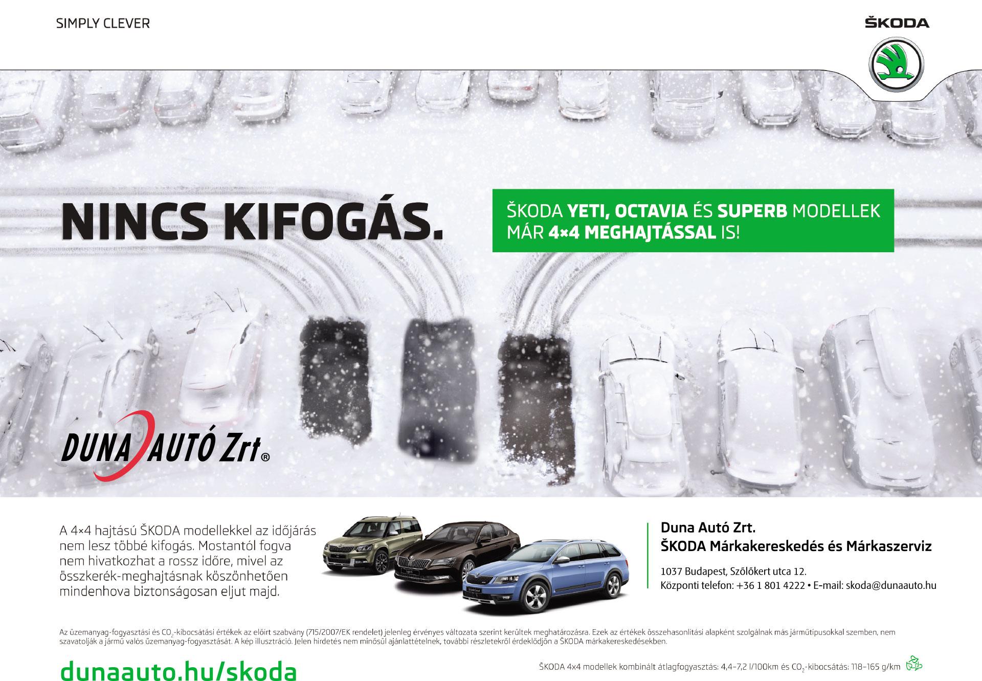 Skoda 4x4 modellek, Yeti, Octavia, Superb, 4x4